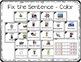 Kindergarten Grammar Task Cards Bundle with Anchor Charts & Games