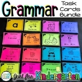 Kindergarten Grammar Task Cards Bundle with Anchor Charts & Games