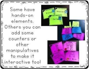 Grammar Task Cards Bundle: Grammar Games with Posters for Kindergarten Centers