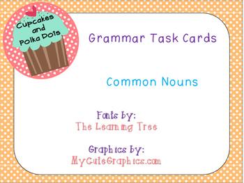 Grammar Task Cards Common Nouns