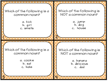 Grammar Task Cards Common Nouns