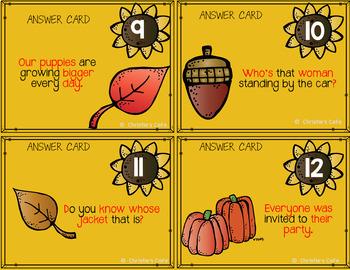 Grammar Task Cards Focus on Sentences