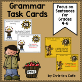 Grammar Task Cards Focus on Sentences