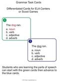 Grammar Task Cards (Full Version)  - for ELA Centers or Scoot