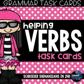 Grammar Task Cards - Helping Verbs