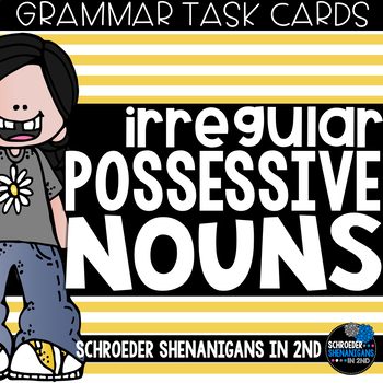 Grammar Task Cards - IRREGULAR POSSESSIVE NOUNS