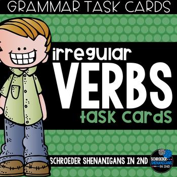 Grammar Task Cards - Irregular Verbs