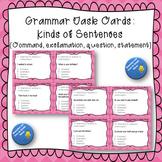 Grammar Task Cards Kinds of Sentences