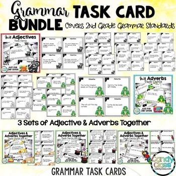 Grammar Task Cards Mega Bundle for Second Grade (Common Core Aligned)