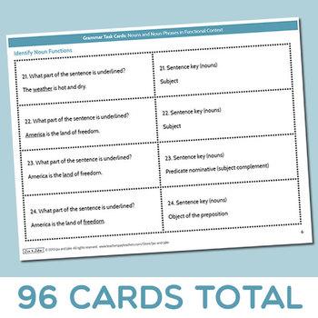 Grammar Task Cards: Nouns and Noun Phrases in Functional Context