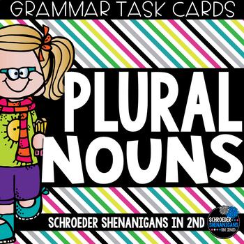 Grammar Task Cards - PLURAL NOUNS adding s and es