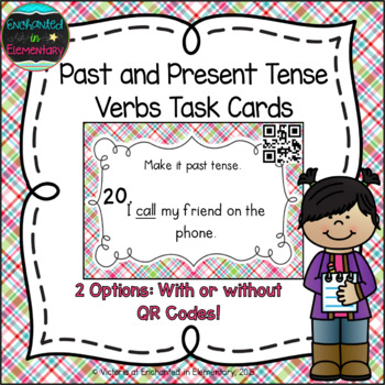 Grammar Task Cards: Past and Present Verb Tenses Set