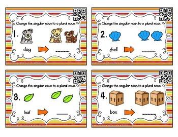 Grammar Task Cards: Plural Nouns Set