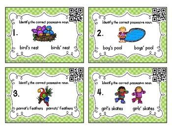 Grammar Task Cards: Possessive Nouns Set