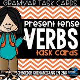 Grammar Task Cards - Present Tense Verbs