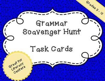 Grammar Task Cards - Scavenger Hunt