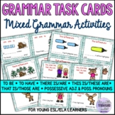 Grammar Task Cards 1 (BE/HAVE, THERE IS/ARE, POSSESSIVE ADJECTIVES) with A/K
