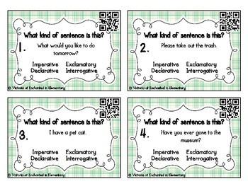 Grammar Task Cards: Types of Sentences Set