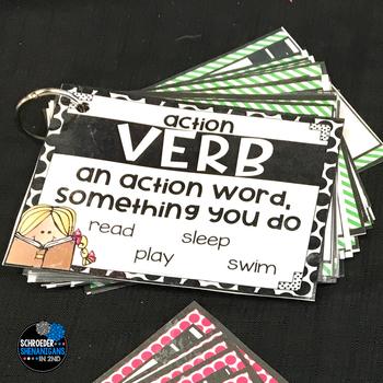 Grammar Task Cards - VERBS BUNDLE