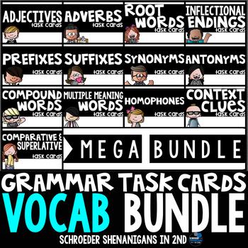 Grammar Task Cards - VOCABULARY BUNDLE