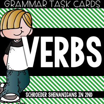 Grammar Task Cards - Verbs