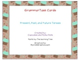 Grammar Task Cards Verbs; Past, Present and Future Tense