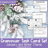 Grammar Task Cards | Winter Task Cards | Grammar Review | January Activities