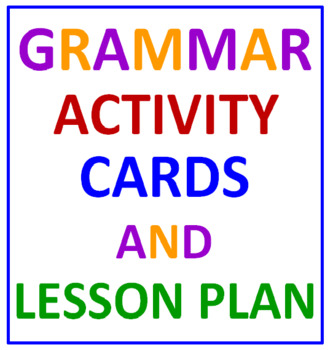 Grammar Task Cards and Lesson Plan (36 Cards)