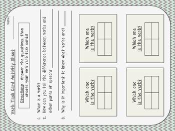 Grammar Task Cards and Worksheets