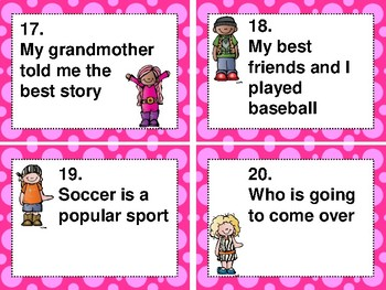 Grammar Task Cards and/or Scoot Games