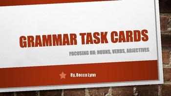 Grammar Task Cards for Grades K-2