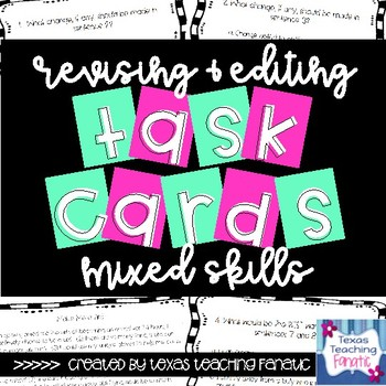 Grammar Task Cards with QR Codes: Mixed Skill Review
