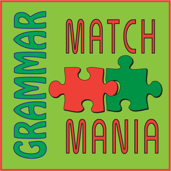 Grammar Terms Matching ~FUN Worksheeet~ Match Mania