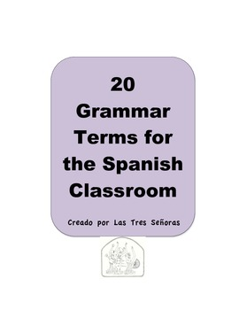 Grammar Terms for the Spanish Classroom