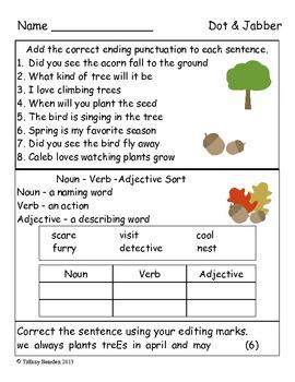 Grammar Test for Dot & Jabber & the Great Acorn Mystery (S