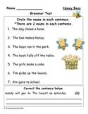 Grammar Test for Honey Bees (Scott Foresman Reading Street)