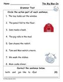 Grammar Test for The Big Blue Ox (Scott Foresman Reading Street)