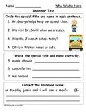 Grammar Test for Who Works Here? (Scott Foresman Reading Street)