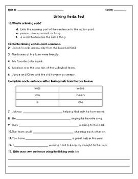 Grammar Tests: 4 Verbs Tests