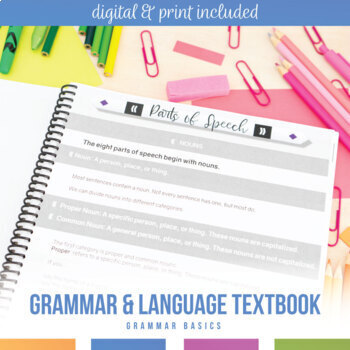 Grammar Textbook: Parts of Speech, Verbals, Types of Sentences, and More