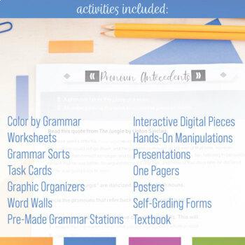 Grammar Curriculum: Parts of Speech, Verbals, Types of Sentences, and More
