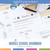 Grammar Curriculum Bundle: Parts of Speech, Verbals, Types of Sentences, & More