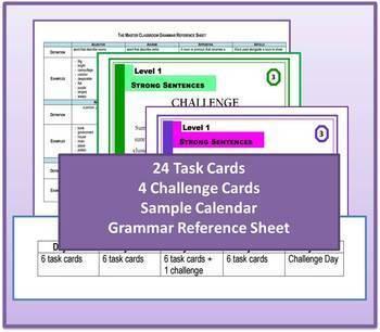 Writing Task Cards - Grammar Through Writing (Level 1)