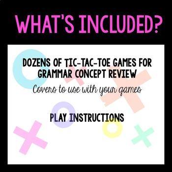 Grammar Tic Tac Toe for VIPKID/ESL Online Teaching