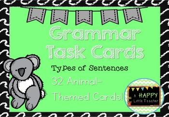 Grammar Types of Sentences Task Cards