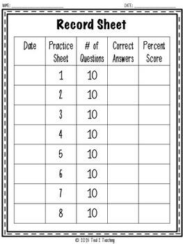 Grammar (USAGE) - 8 Middle Grades Printables for Quizzes, Homework or Test-Prep