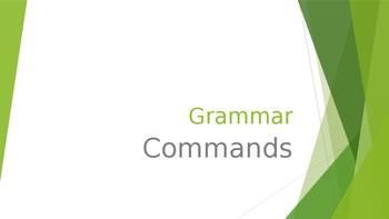 Grammar Unit 1 Week 2 Day 1 Commands FREEBIE