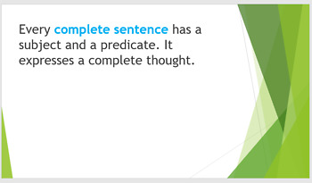 Grammar Unit 1 Week 3 Days 1-3 Subjects and Complete Sentences