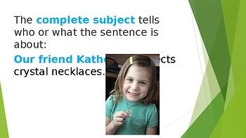 Grammar Unit 1 Week 4 Day 1 Predicates FREEBIE