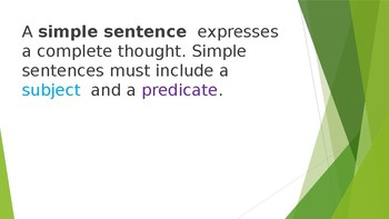 Grammar Unit 1 Week 5 Day 1 Simple and Compound Sentences FREEBIE